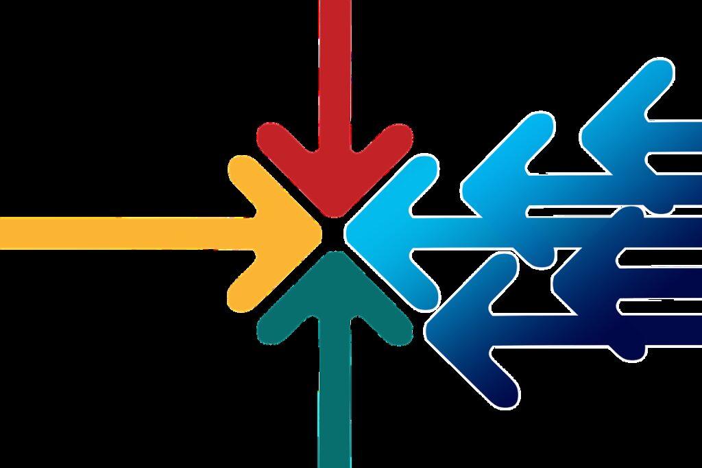 arrows, center, inside